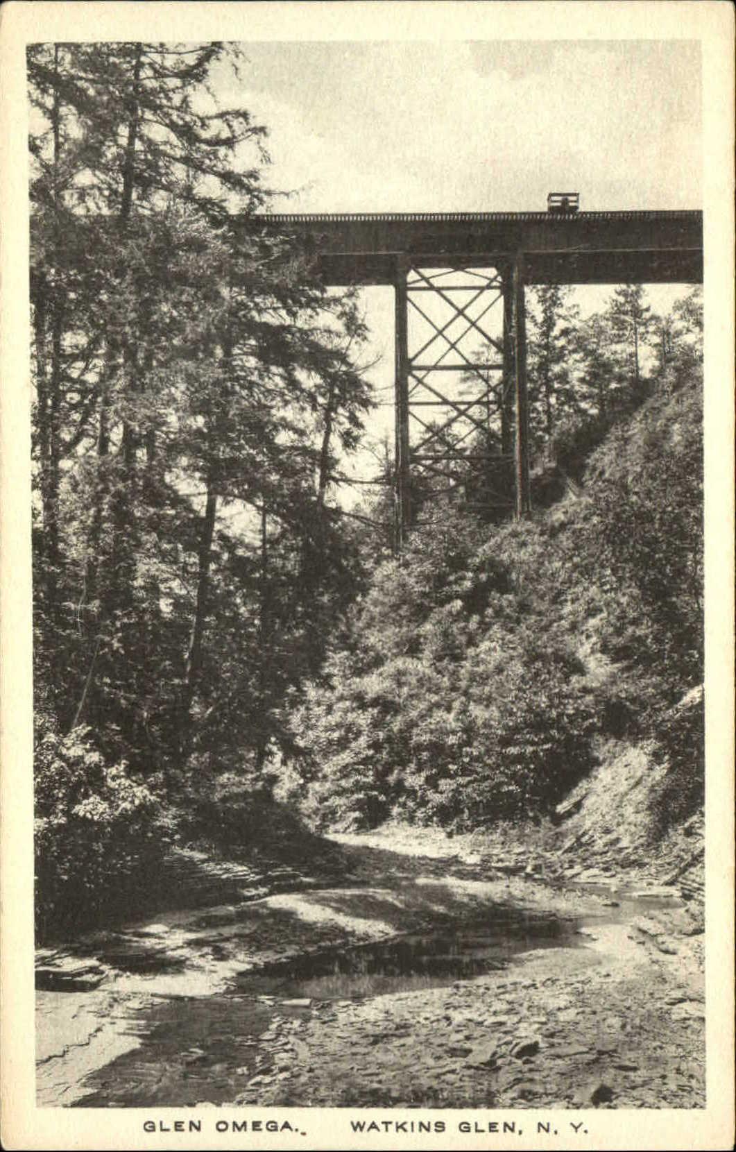 Glen-Omega-bridge-Watkins-Glen-New-York-NY-Albertype-1920s